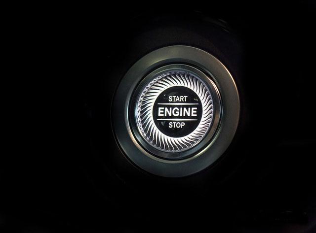 Nút bấm khởi động mới trên Mercedes-Maybach S450 2018.